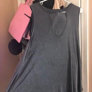 Never worn Charlotte russe keyhole tank top.